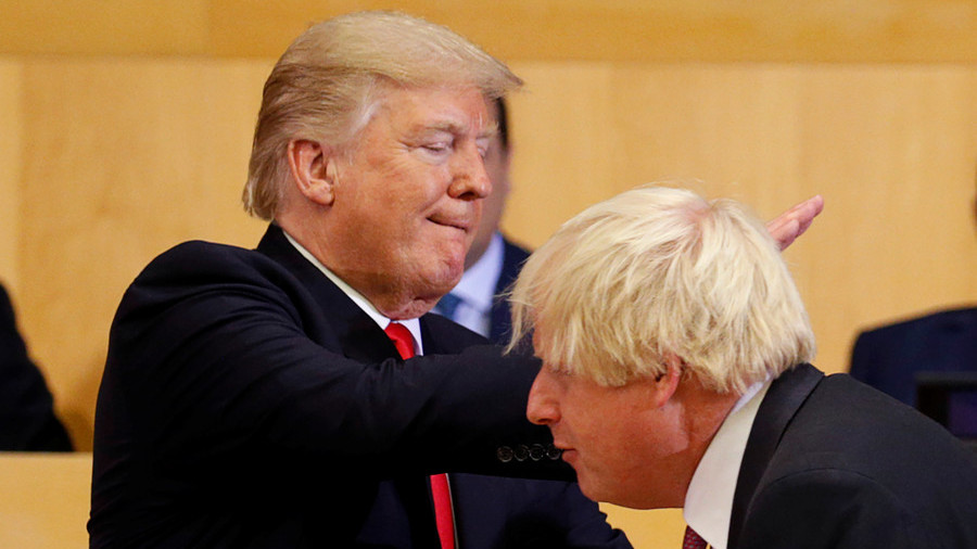 Trump says his 'talented' friend Boris Johnson would be a 'great' PM, ahead of meeting with UK's May