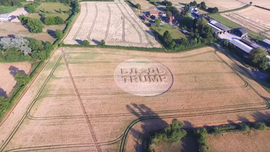 Greeted with protests & 'F*ck Trump' crop circle, US leader feels 'unwelcome' in UK (VIDEOS)