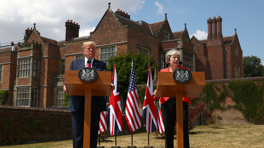 Donald Trump makes his first trip to Britain
