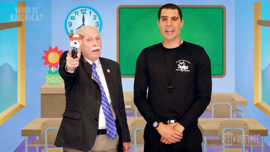 '3yos can't protect themselves from guns with pencils': US lawmakers tell Sacha Baron Cohen