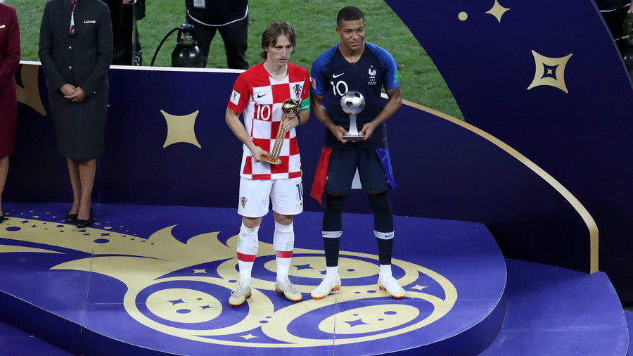 Modric voted best player of Russia 2018, Mbappe best young footballer