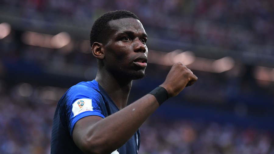 Paul Pogba leads celebrations after France win World Cup