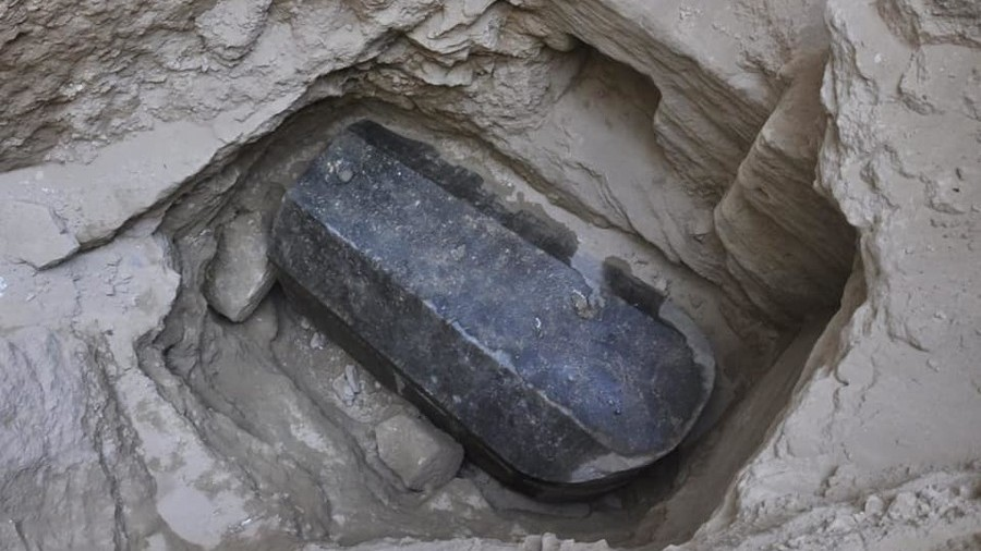 That Massive Black Sarcophagus Was Opened. Here's What's Inside