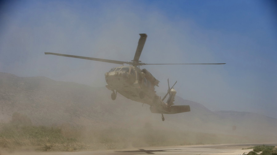 22 injured as helicopter blows tent over at California military base