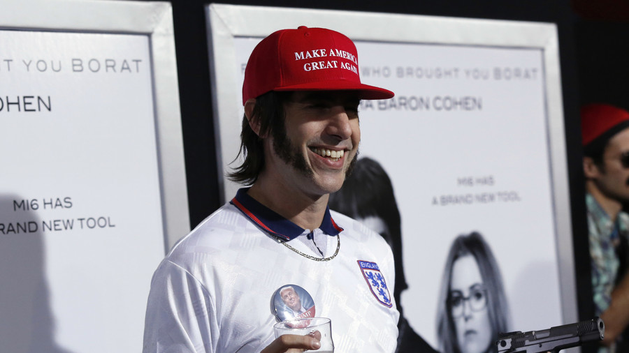 VIDEO: Sacha Baron Cohen fails to dupe California gun shop owner with 'Hungarian immigrant' disguise