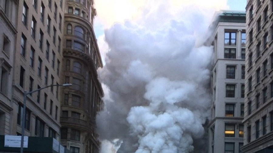 Shocking aerial footage shows massive steam pipe explosion in NYC