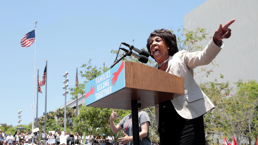 American Flag Is Burned Outside Maxine Waters' Office