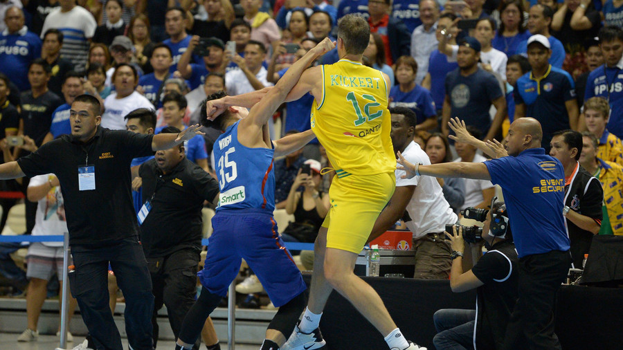 Australian & Philippine basketball players banned for 'biggest on-court brawl in a decade' (VIDEO)