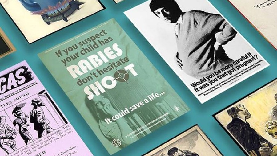 Poster encouraging parents to shoot rabid children gets feature in UK govt. magazine