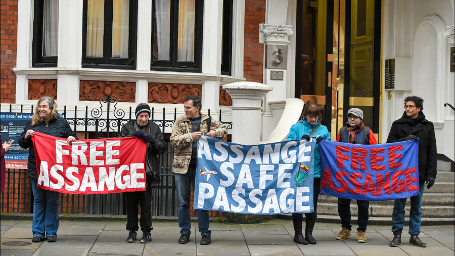 Julian Assange's Departure from Ecuador Embassy in London Is Imminent