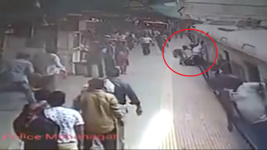 Horrified passengers rush to save woman dragged by moving train (VIDEO)