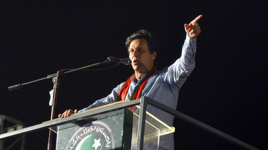 Former cricket star Imran Khan leads in slow count of Pakistan vote