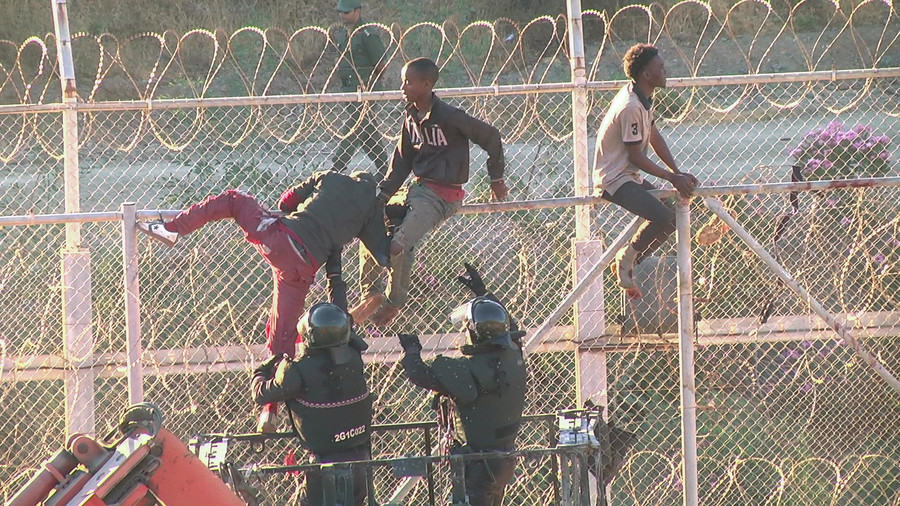 700+ migrants storm Spanish exclave of Ceuta, some use homemade 'flamethrowers' (VIDEO)