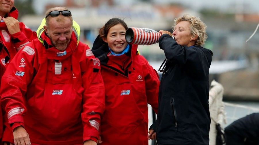 Australian becomes first female skipper to win round-the-world yacht race