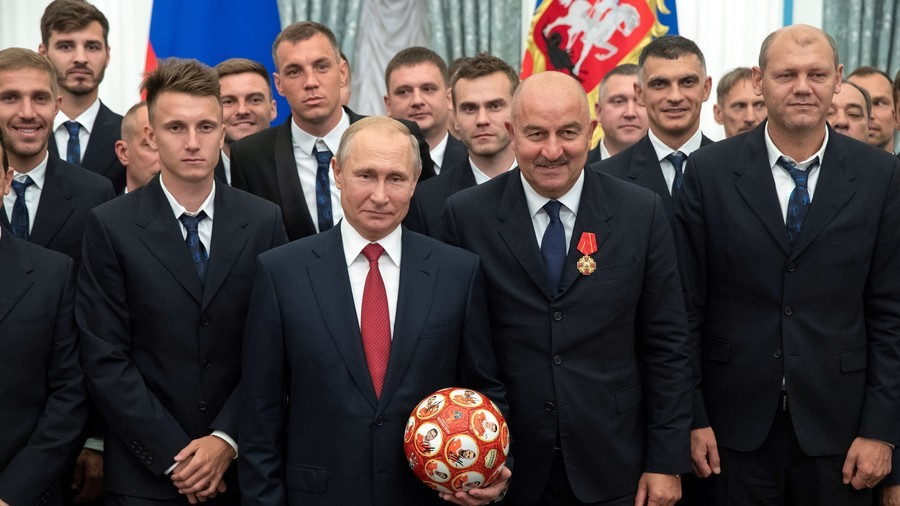 'We gave Putin a ball, but with no listening device' – Russia coach Cherchesov mocks US spy hysteria