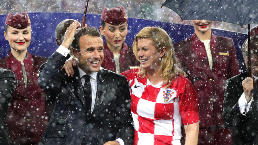 I was too caught up in emotion to notice the rain – Croatia's Grabar-Kitarovic on World Cup downpour