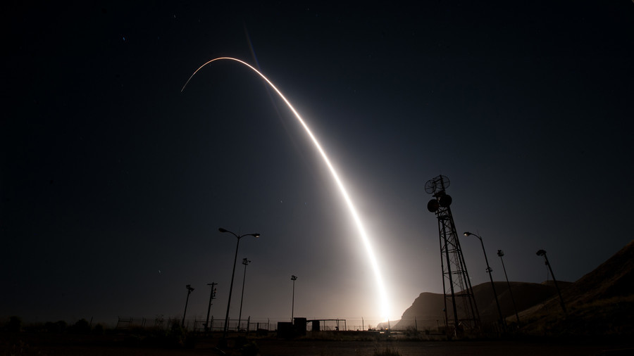 US Air Force destroys ICBM after 'anomaly' during test launch