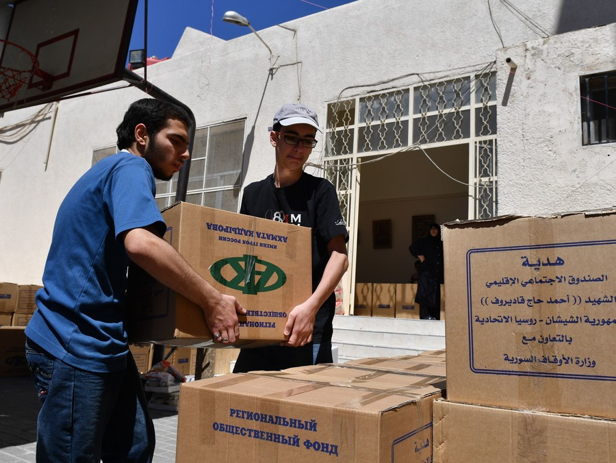 Kadyrov foundation delivers tons of aid to war-hit regions of Syria