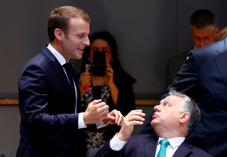 Macron replaces French envoy to Hungary for praising Orban's 'model' policy towards migrants