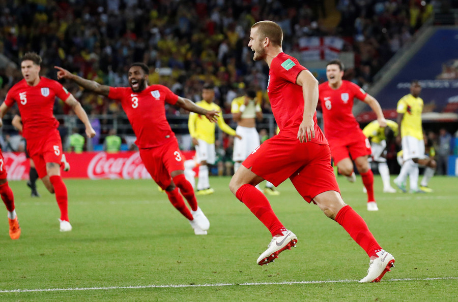 England plus points against Colombia