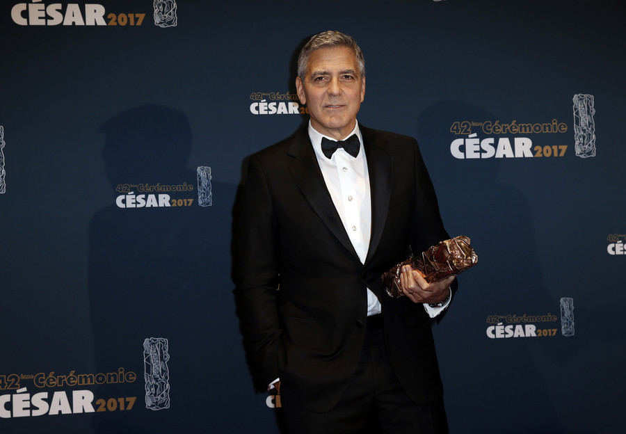 George Clooney injured in bike collision with car in Sardinia – local media