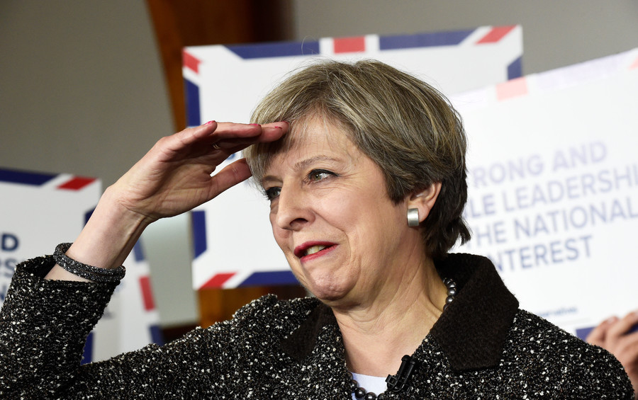 The UK govt is falling apart: But as PM May sinks, she still calls out 'look over there' at Russia