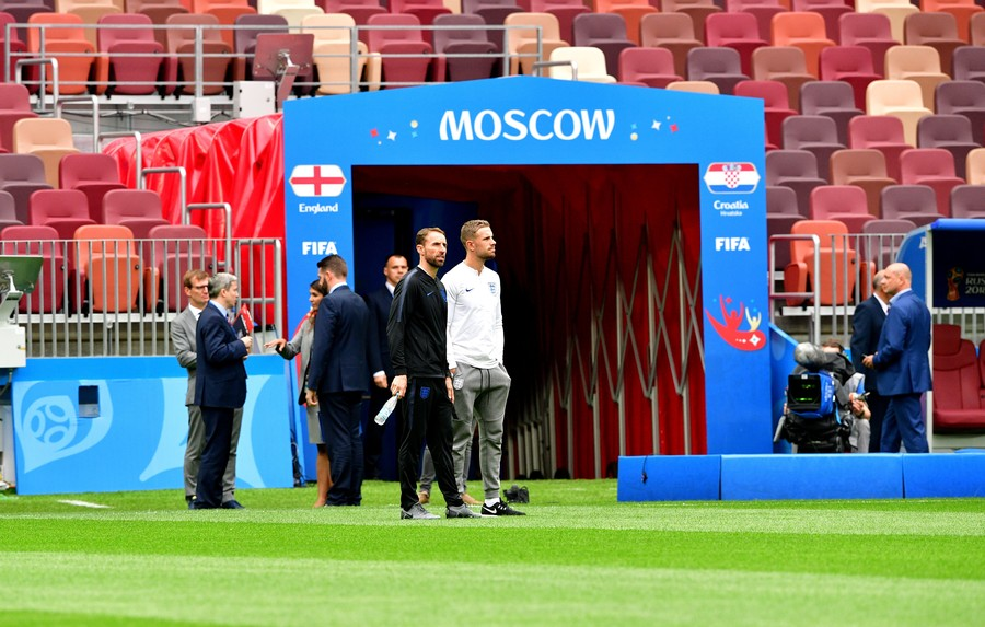 Fans in Moscow devastated after England knocked out by Croatia