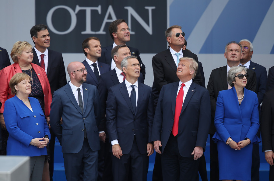 The perfect metaphor? NATO summit photo sparks Twitter meme