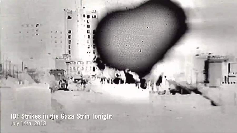 Israeli jets strike Hamas in Gaza in response to 'terror acts & violent riots' at border (VIDEO)