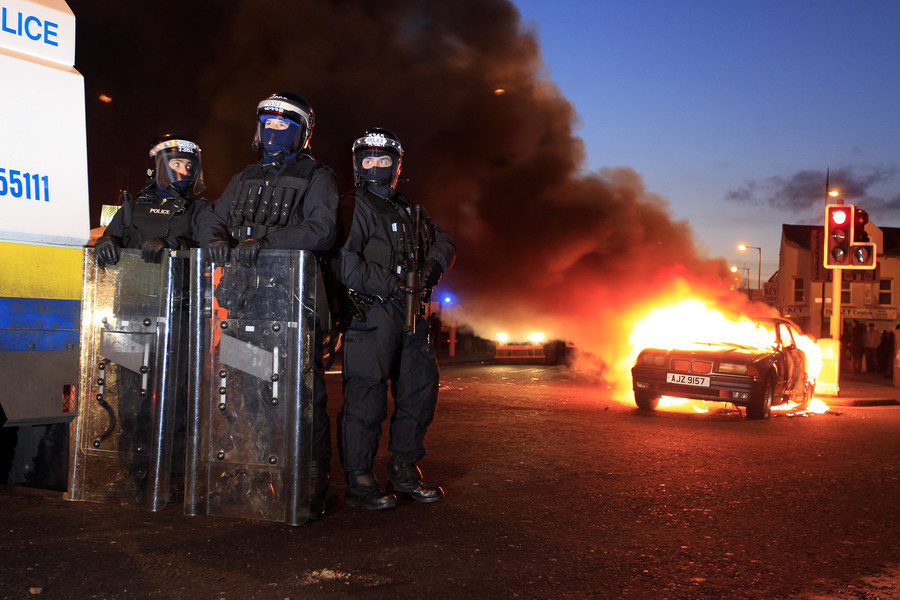 Explosives thrown at home of SF's Gerry Adams, while Derry rioting blamed on 'New' IRA