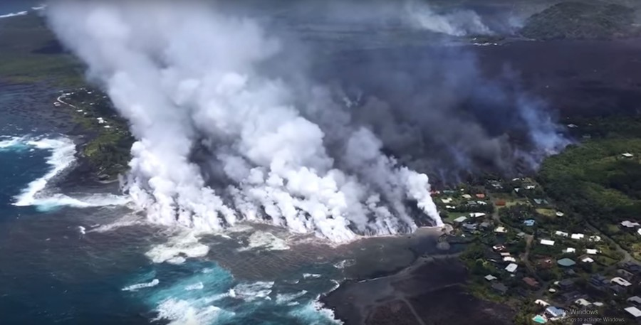 Hawaii gets new island as erupting volcanic crater continues to spew lava into sea