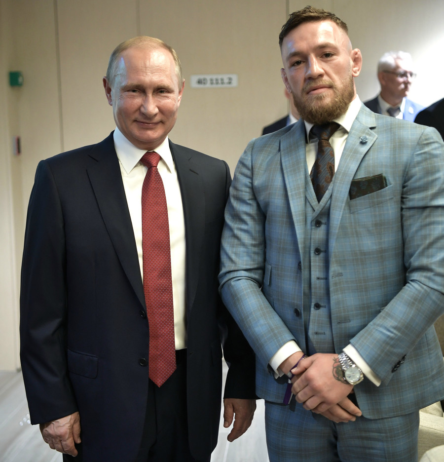 Conor McGregor watches World Cup alongside Vladimir Putin