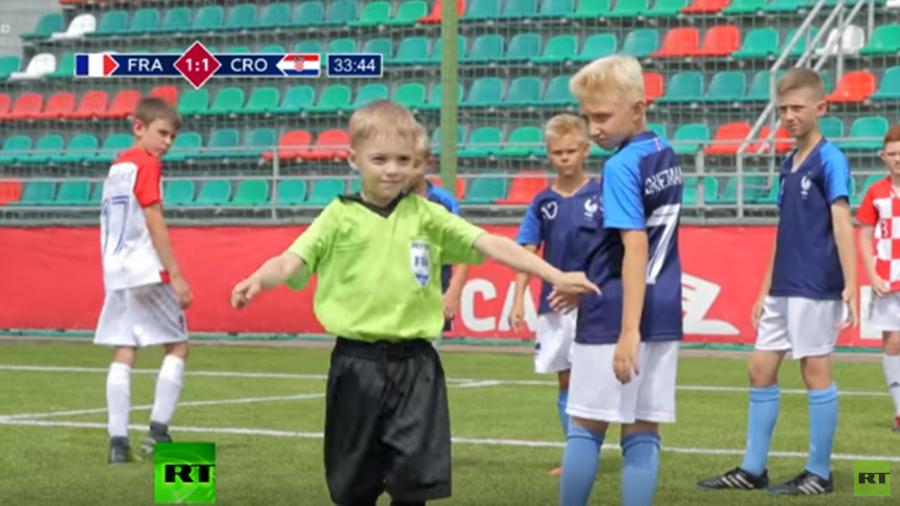 Cute kids recreating World Cup final causes online race debate. Must it always end like this?
