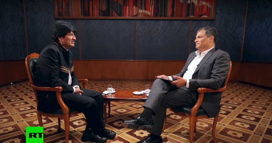 'US presidents talk peace, but never about social justice': Bolivia's Morales to Correa on RT