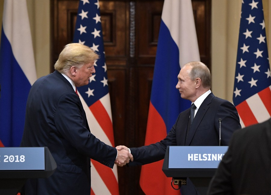 Russian opinions of US relations improve after Helsinki summit, poll shows