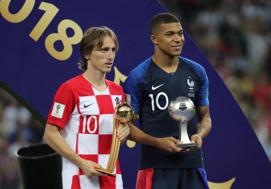 World Cup stars Luka Modric and Kylian Mbappe both made the list
