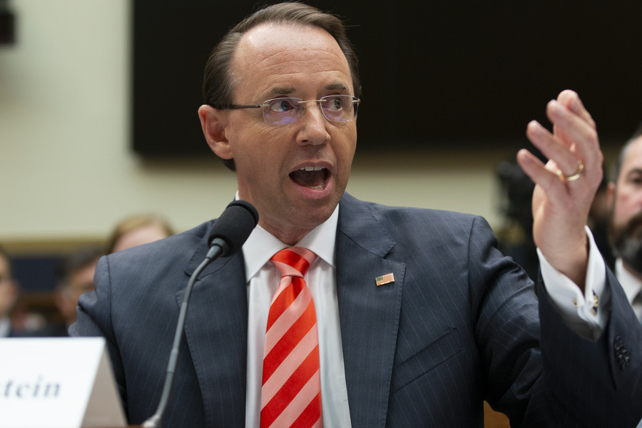 Republicans move to impeach Deputy AG Rosenstein over Russiagate docs