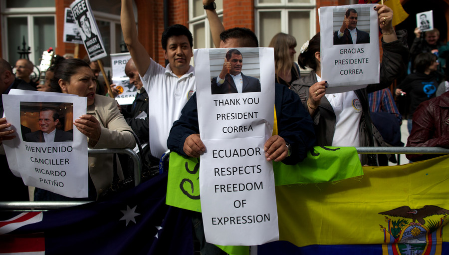 'Assange's days in Ecuadorian Embassy in London are numbered' – Correa to RT
