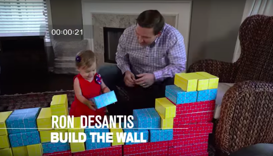 Republican gubernatorial candidate teaches child to 'build a wall' in strange campaign video