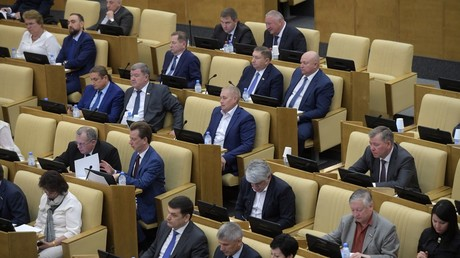 Deputies at a plenary meeting of the State Duma © Vladimir Fedorenko