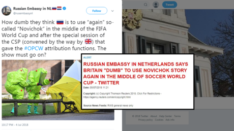 Who's 'dumb'? Reuters got lost in Russian embassy tweet on new Novichok claims