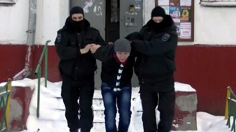 Major special operation to detain extremism and terrorism suspects (a still from a video of the Russian Guard Moscow Unit) © Sputnik