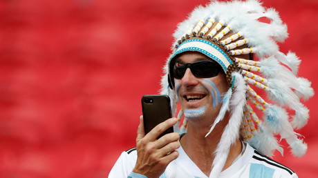 FILE PHOTO: Argentina fan in the stadium before match, Kazan, Russia  © Carlos Garcia Rawlins
