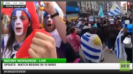 WORLD CUP 2018 LIVE #FansEyeView #FRA #URU #BEL #BRA