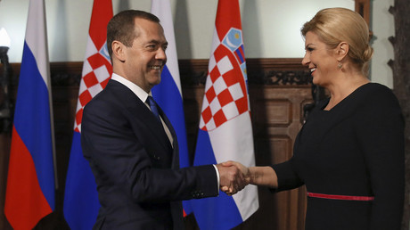 Russian prime minister and Croatian president to attend World Cup quarter-final in Sochi