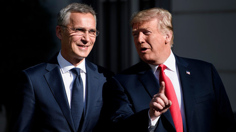 NATO Secretary General Jens Stoltenberg and US President Donald Trump © Brendan Smialowski