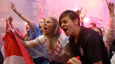 Zagreb erupts into wild celebrations after Croatia reaches World Cup final (VIDEO)