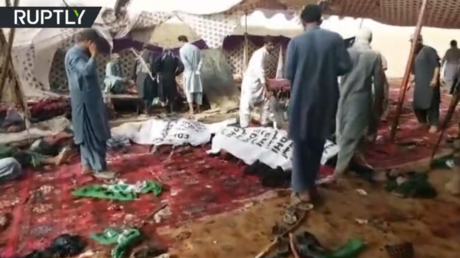 85 killed in suicide attack at Pakistan election rally – Health minister (VIDEO)