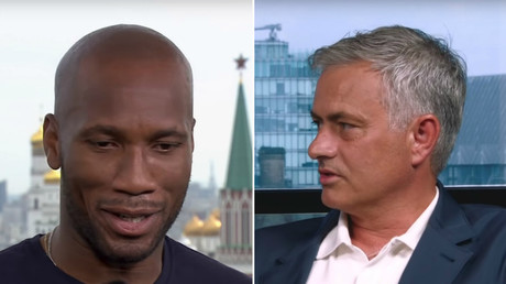 'He is my son forever': Papa Mourinho & Kid Drogba don't hide their feelings on air (VIDEO)