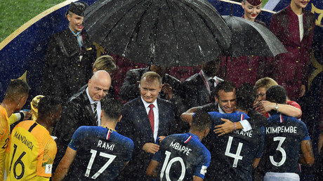 Rain breaks out during World Cup award ceremony in Moscow (PHOTOS)